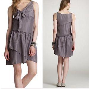 NEW J. Crew Black Silk Effie Scarf Dress